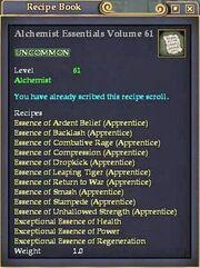 Alchemist Essentials Volume 61