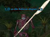 An elite Rallosian allegiant