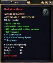 Barkskin Mask