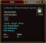 Callistan's Blood Soaked Apron