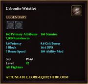 Cebonite Wristlet