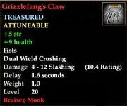 Grizzlefang's Claw