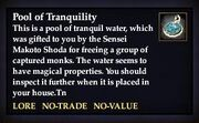 Pool of Tranquility Examine