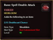 Rune Spell Double Attack