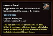 A centaur hand