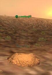 A muddy gob