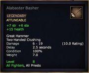 Alabaster Basher