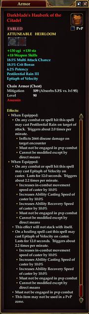 Darkblade's Hauberk of the Citadel