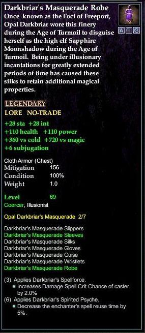 Darkbriar's Masquerade Robe | EverQuest 2 Wiki | FANDOM