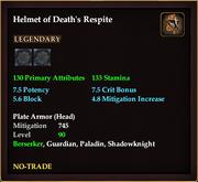 Helmet of Death's Respite