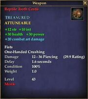 Reptile Tooth Cestii
