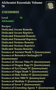 Alchemist Essentials Volume 70