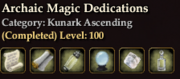 Archaic Magic Dedications