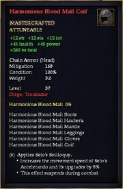 Harmonious Blood Mail Coif