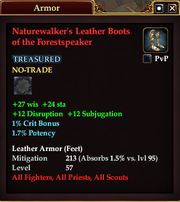 Naturewalker's Leather Boots of the Forestspeaker