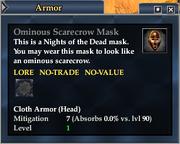 Ominous Scarecrow Mask