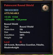 Putrescent Round Shield