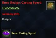 Rune Recipe- Casting Speed