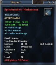Spinebreaker's Warhammer