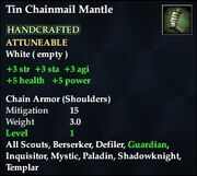 Tin Chainmail Mantle