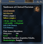 Vambraces of Clerical Precision