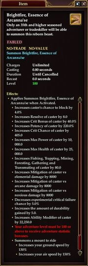 Brightfire Essence of Arcanna'se