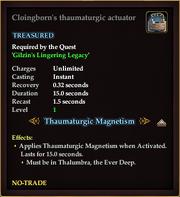 Cloingborn's thaumaturgic actuator
