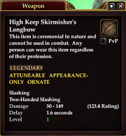 High Keep Skirmisher's Longbow