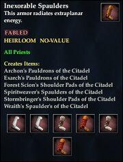 Inexorable Spaulders
