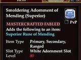 Smoldering Adornment of Mending (Superior)