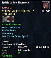 Spirit Laden Hammer