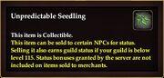 Unpredictable Seedling (item)