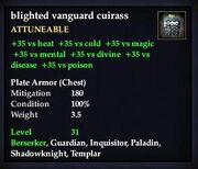 Blighted vanguard cuirass