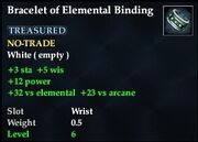 Bracelet of Elemental Binding