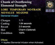 Chunk of Overflowing Elemental Strength