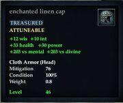 Enchanted linen cap
