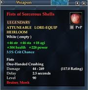Fists of Sorcerous Shells