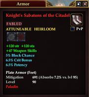 Knight's Sabatons of the Citadel