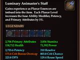 Luminary Animaster's Staff