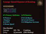 Scourge Tainted Hammer of Rending