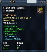 Signet of the Arcane Elementalist