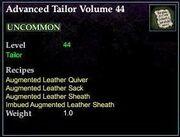 Advanced Tailor Volume 44