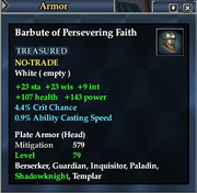 Barbute of Persevering Faith