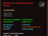 Bloodsworn Metetherial Leather Bracers