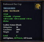 Embossed Fae Cap