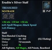Erudite's Silver Staff