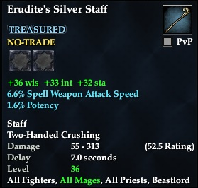 Erudite's Silver Staff | EverQuest 2 Wiki | FANDOM powered