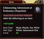 Glimmering Adornment of Endurance (Superior)