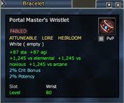 Portal Master's Wristlet