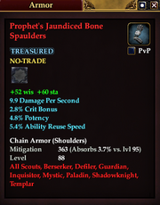 Prophet's Jaundiced Bone Spaulders